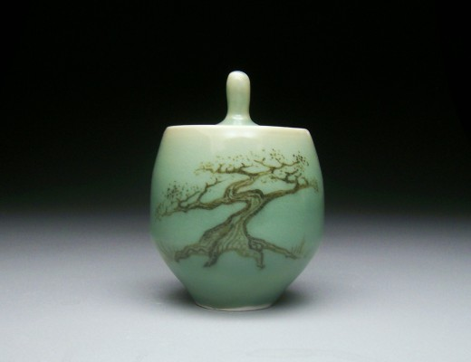 Why Trees- Celadon Jar