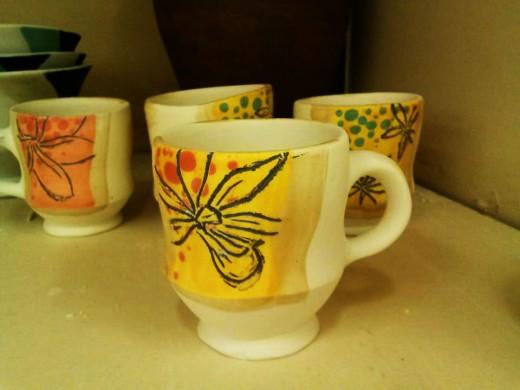 orchid espresso cup