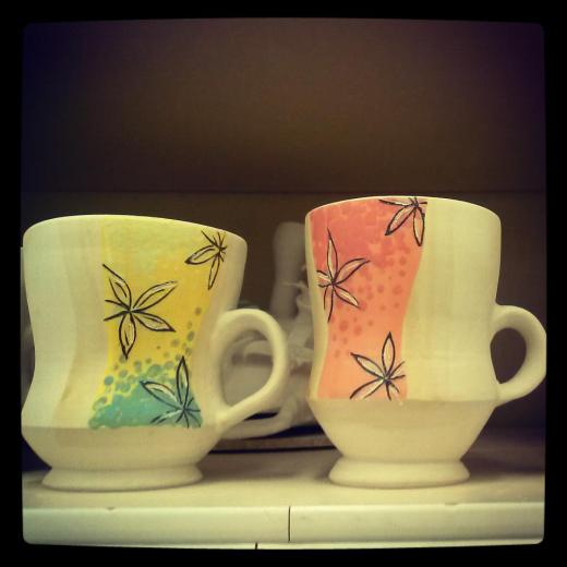 new color inlay mugs