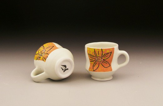 orchid espresso cups