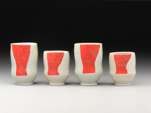 Heliconia sake cups