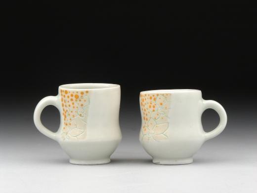 White Orchid espresso cups