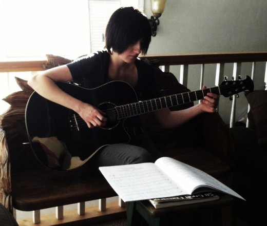 guitar and me