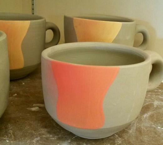 sprayed mugs